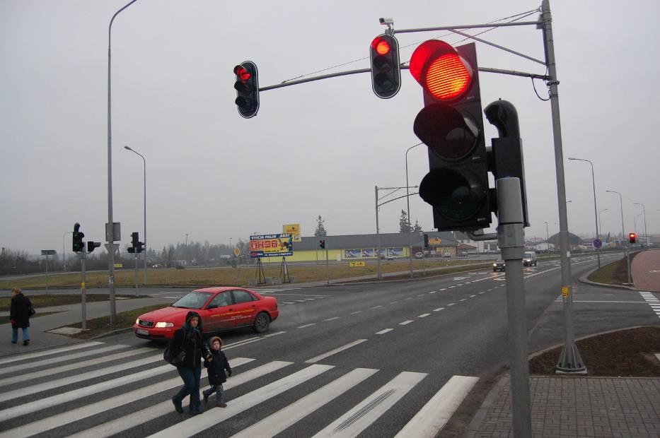 fotoradary na czerwonym świetle