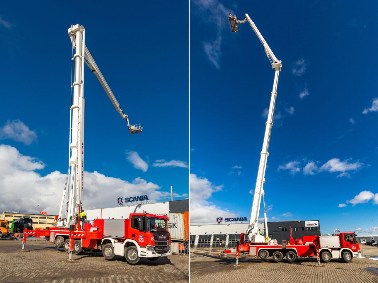 Najwyższy podnośnik w Europie na podwoziu Scania_1