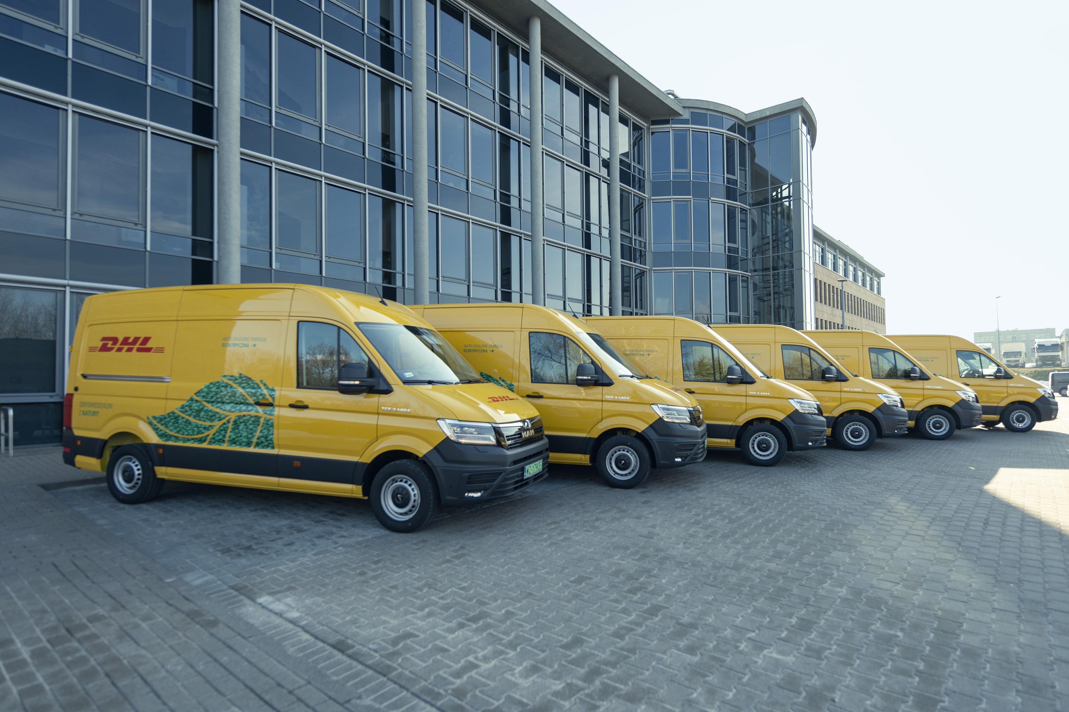 DHL Parcel inwestuje w dostawcze samochody elektryczne dla kurierów