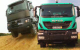 truck vs truck renault k iveco trakker 924