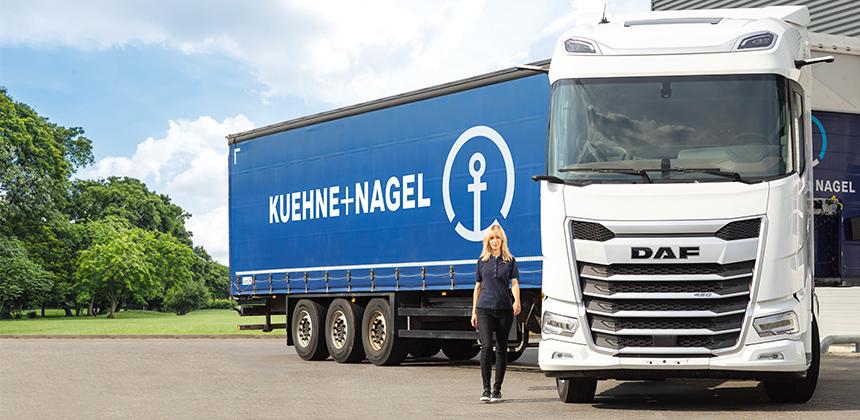 DAF Trucks Polska we współpracy z frmą Kuehne+Nagel podczas Maratonu Warszawskiego